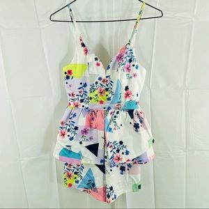 WhoIam Multicolored Sleeveless Romper Size 6